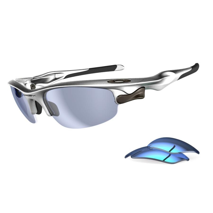 FASTJACKET SILVER/BLUIRID/JADE. Oakley logo
