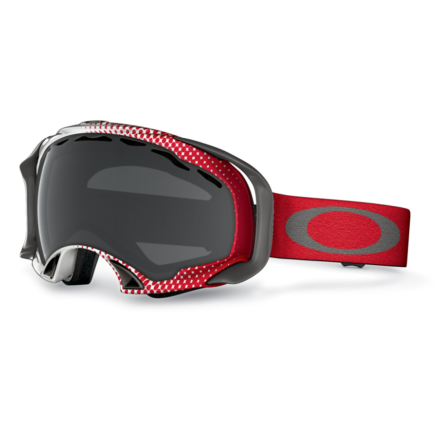 oakley splice goggles  Oakley - Splice Snow Goggles - Half Tone Red-White-Dark Grey - 57 ...