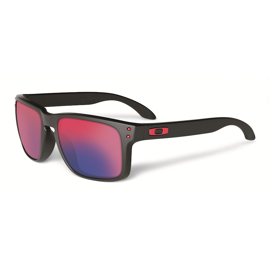 Oakley holbrook matte black positive red iridium for Lunette de soleil avec verre miroir