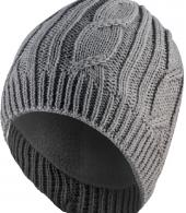 WATERPROOF CABLE BEANIE-GREY