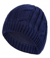 WATERPROOF CABLE BEANIE-BLUE